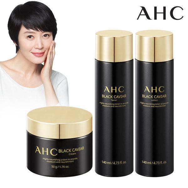AHC 블랙 캐비어 3종 (토너+로션+크림) 상품이미지
