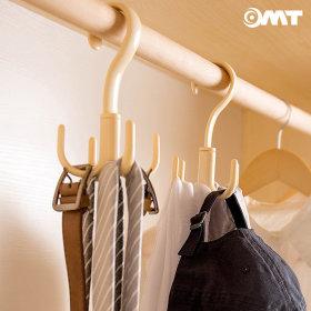 OMT 4개후크걸이 옷장 넥타이 스카프 옷걸이 OSO-T129