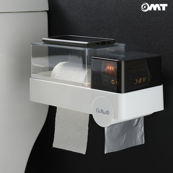 OMT 욕실 방수 휴지걸이 올인원 선반 수납 OSO-T118 상품이미지