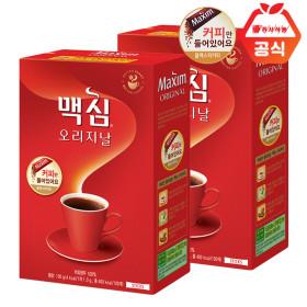 Maxim ORIGINAL Soluble Black Coffee 100 Sticks+100 Sticks+Milk Bottle