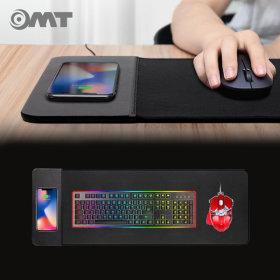 OMT QI인증 게이밍 장패드 고속 무선충전 OMP-WCPAD