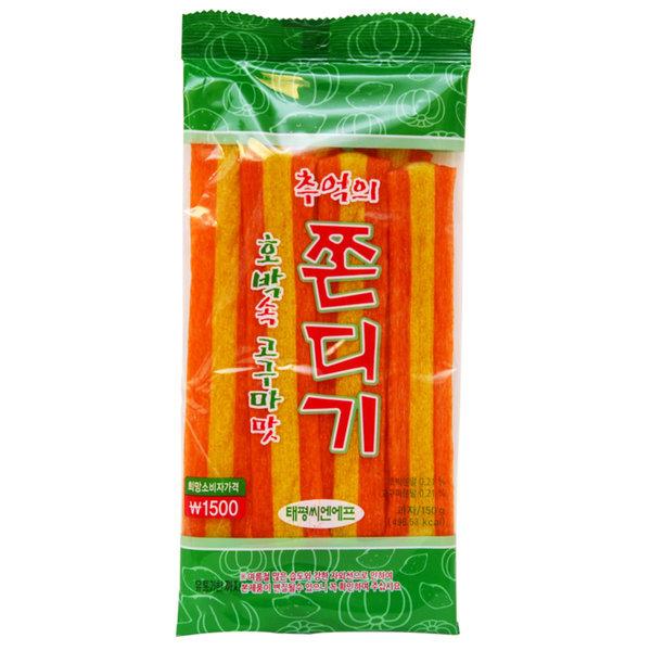 추억의 호박속 고구마맛 무지개쫀드기 150g/쫀디기 상품이미지
