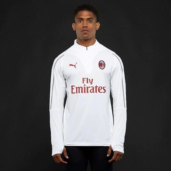 해외쇼핑/Prodirectsoccer Puma AC Milan 2018/19 1/4 Training Top - Puma White/Puma Black 상품이미지