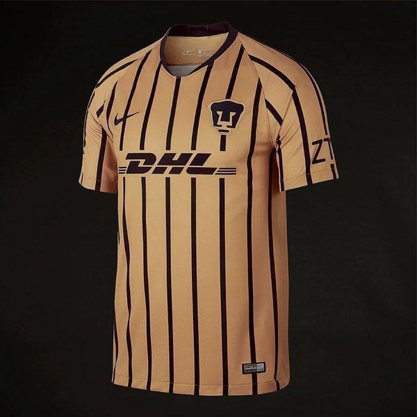 해외쇼핑/Prodirectsoccer Nike Pumas UNAM 2018/19 Away Stadium SS Jersey - Truly Gold/Obsidian 상품이미지