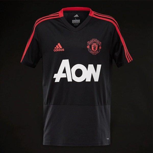 해외쇼핑/Prodirectsoccer adidas Manchester United 2018/19 Training Youths Jersey - Black/Blaze Red/C 상품이미지