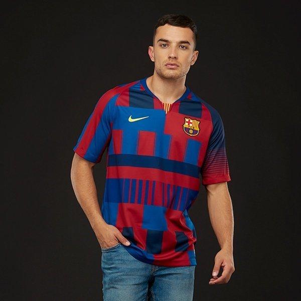해외쇼핑/Prodirectsoccer Nike FC Barcelona 2018/19 Stadium Jersey SS DSR - Deep Royal Blue/Noble Red 상품이미지