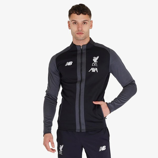해외쇼핑/Prodirectsoccer New Balance Liverpool FC 19/20 Managers Game Jacket - Black 상품이미지