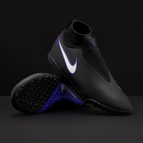 해외쇼핑/Prodirectsoccer Nike React Phantom VSN Shadow Pro DF TF - Black/Metallic Silver/Racer Blue 상품이미지