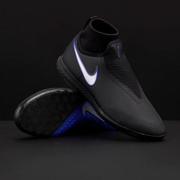 해외쇼핑/Prodirectsoccer Nike React Phantom VSN Shadow Pro DF IC - Black/Metallic Silver/Racer Blue 상품이미지