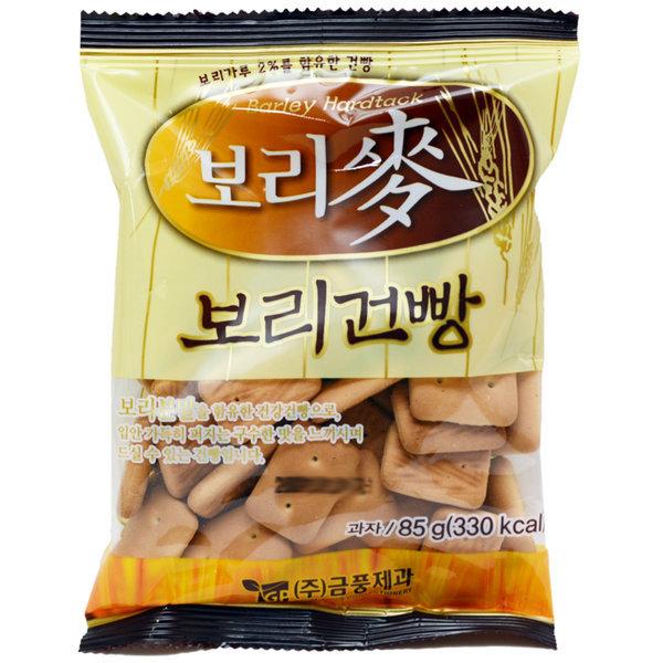맥보리건빵 85g/보리건빵/군대건빵/과자/옛날과자 상품이미지