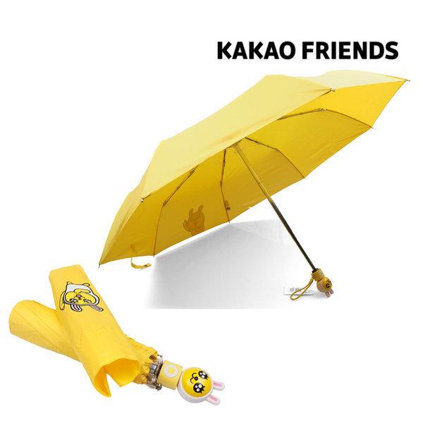 KAKAO 무지 여행패턴 3단 수동우산 패션우산 캐릭터 상품이미지