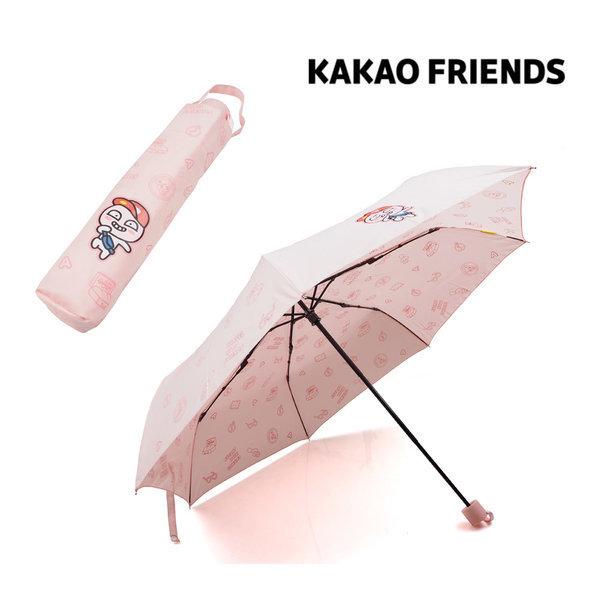 KAKAO 어피치 여행패턴 3단 수동우산 패션우산 캐릭터 상품이미지