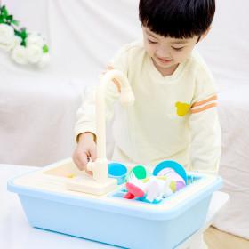 자동 물 나오는 싱크대 장난감_블루 _뉴 싱크대