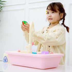 자동 물 나오는 싱크대 장난감_핑크