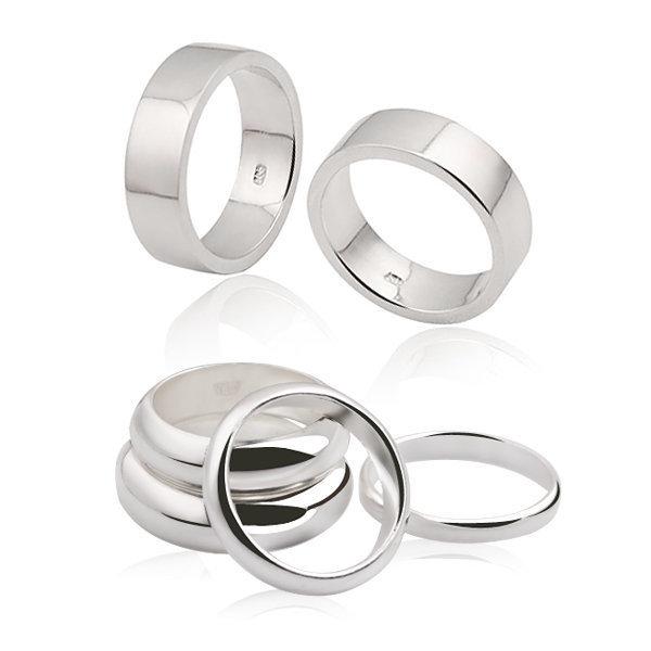 실버 엥게이지/평반지(3mm~5mm) 9900원부터~silver링 상품이미지