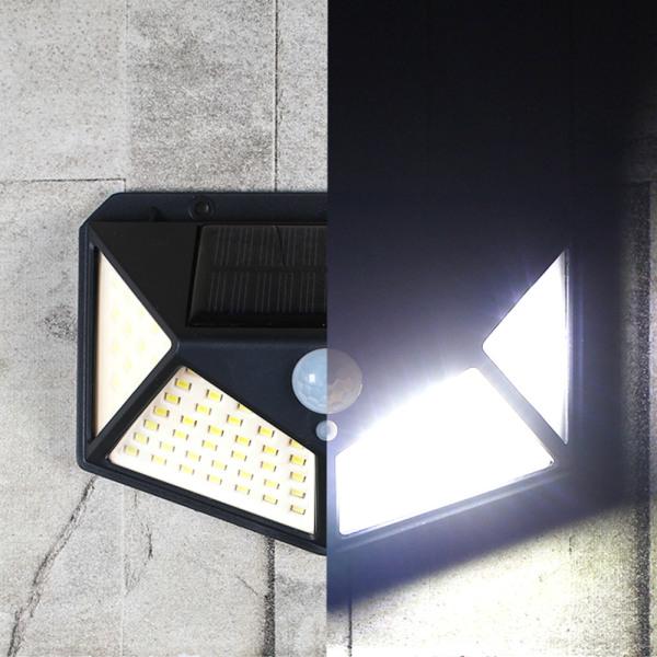 태양광 100구 감지벽부등 동작감지 LED 센서등 정원등 상품이미지