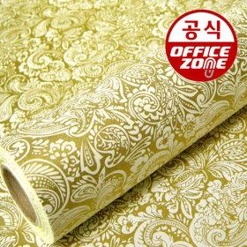 디자인랩 아메바 종이롤 포장지 골드 10M