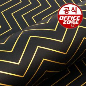 디자인랩  세브런 종이롤 포장지 블랙 10M