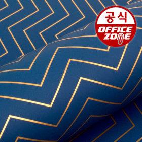 디자인랩 세브런 종이롤 포장지 블루 10M