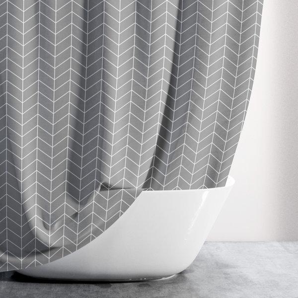 샤워커튼-헤링본그레이(대형)/패브릭 욕실 커텐 방수 상품이미지