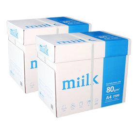 밀크 A4 복사용지(A4용지) 80g 2BOX(5000매)