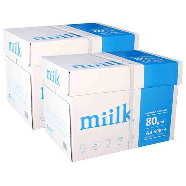 밀크 A4 복사용지(A4용지) 80g 2BOX(4000매) 상품이미지