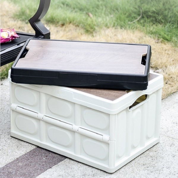 하이어캠프 접이식 폴딩 수납 원판 상판 캠핑 박스 상품이미지