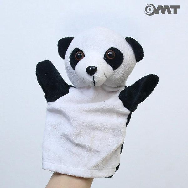 OMT 12종류 동물 손인형 봉제인형 KC인증 OD-AM02 팬더 상품이미지