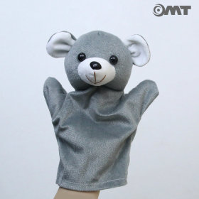 OMT 동물 놀이 손인형 KC인증 교구 AM07 곰 그레이
