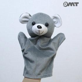 OMT 동물 손인형 봉제인형 KC인증 교구 AM07 곰 그레이