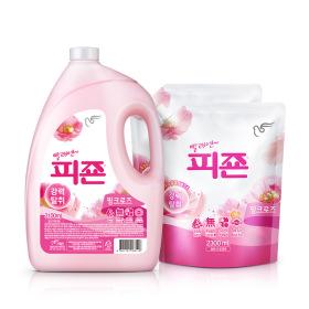 섬유유연제 피죤2300ml 4개 핑크