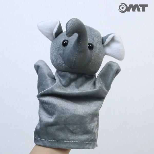 OMT 동물 손인형 봉제인형 KC인증 AM08 코끼리 그레이 상품이미지