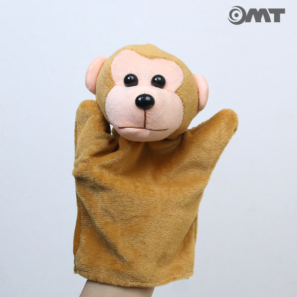OMT 12종류 동물 손인형 봉제인형 KC인증 AM09 원숭이 상품이미지
