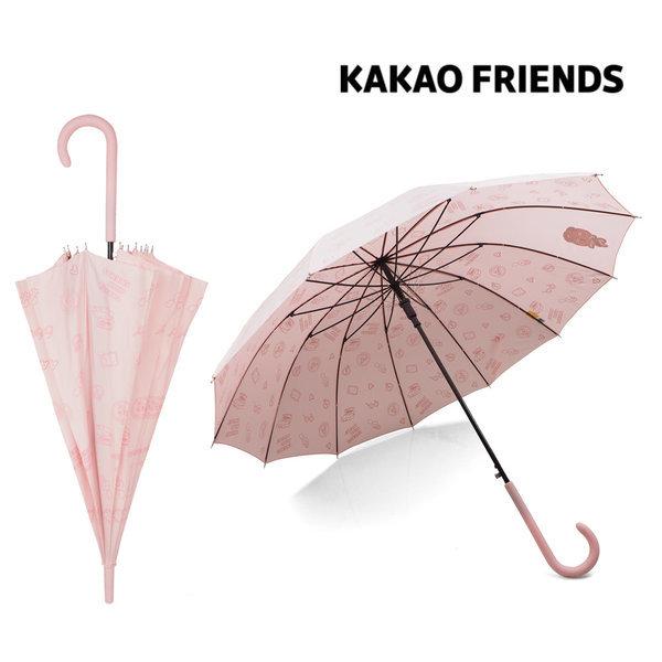 KAKAO 어피치 여행패턴 자동 장우산 패션우산 캐릭터 상품이미지