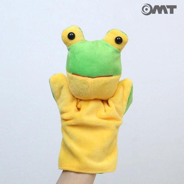 OMT 동물 손인형 봉제인형 KC인증 교구 AM12 개구리 상품이미지