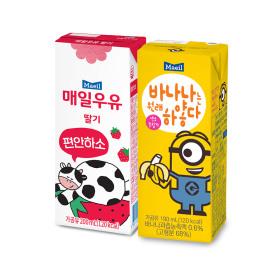 딸기우유 200ml24팩+바나나는원래하얗다 190ml 24팩