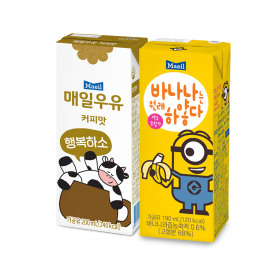 커피우유 200ml 24팩+바나나는원래하얗다 190ml 24팩