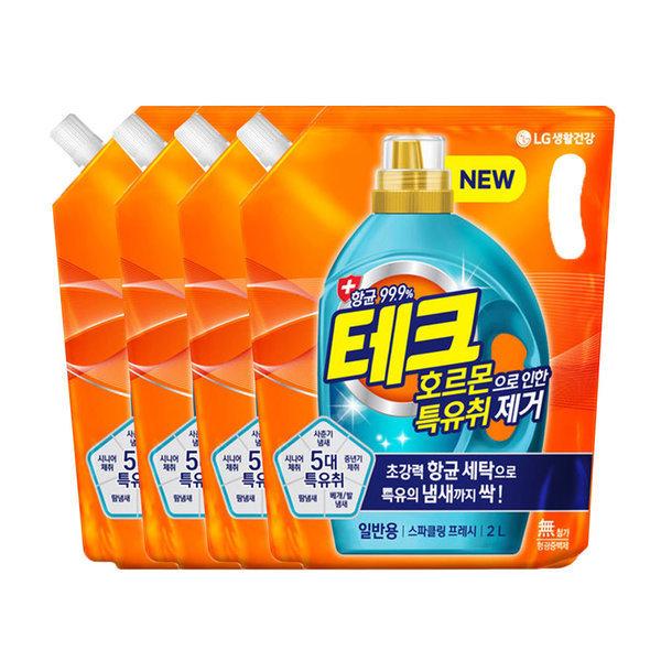 테크 특유취 액체세제 일반리필 2L 4개 상품이미지