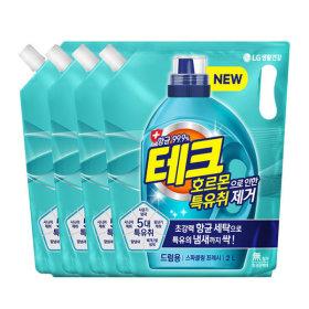 테크 특유취 액체세제 드럼리필 2Lx4