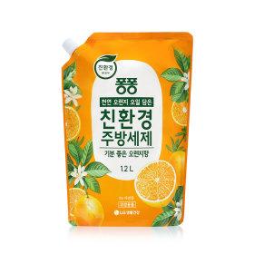 퐁퐁 친환경 주방세제 오렌지 1.2L 4개