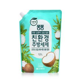 퐁퐁 친환경 주방세제 코코넛 1.2L 4개