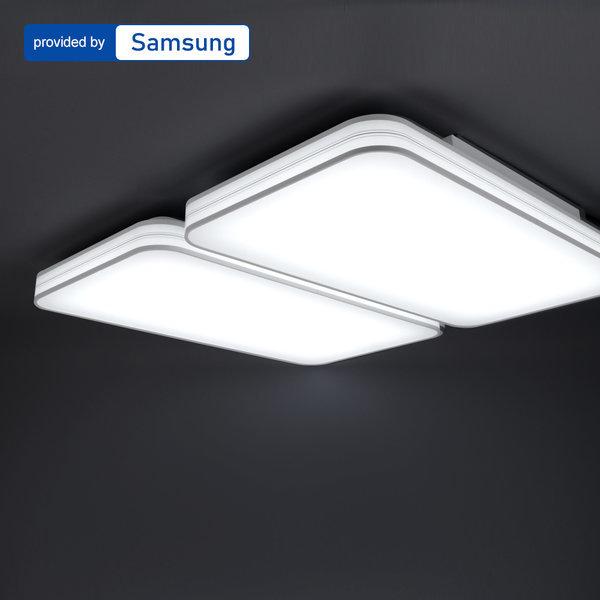 LED거실등/방등/조명 올뉴시스템 거실4등 100W 다콜칩 상품이미지