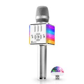 블루투스마이크 미라클 M90 LED 자동차노래방 Aux out