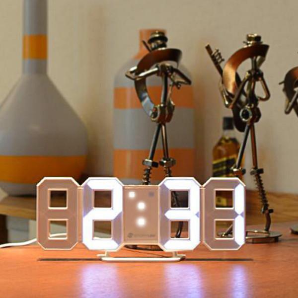 전자시계 무소음시계 알람시계 조명 온도 LED 탁상용 상품이미지