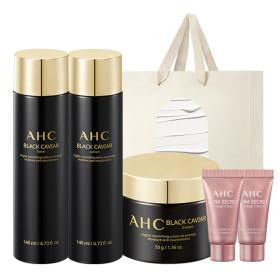 AHC 블랙 캐비어 3종(스킨+로션+크림) +아이크림 4개