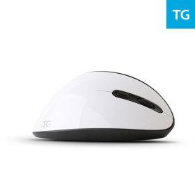 TG-TM618G (화이트) 인체공학 광 무선 버티컬 마우스
