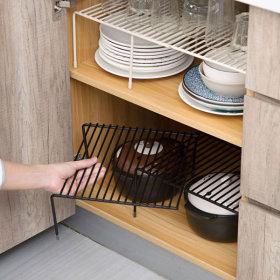다용도선반 주방 그릇 접시정리대 길이조절 확장형