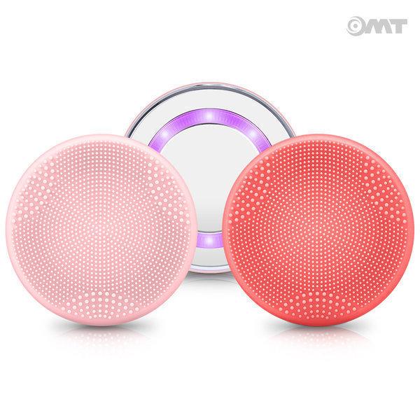OMT 세안 브러쉬 온열 진동클렌저 마사지기 K602 레드 상품이미지