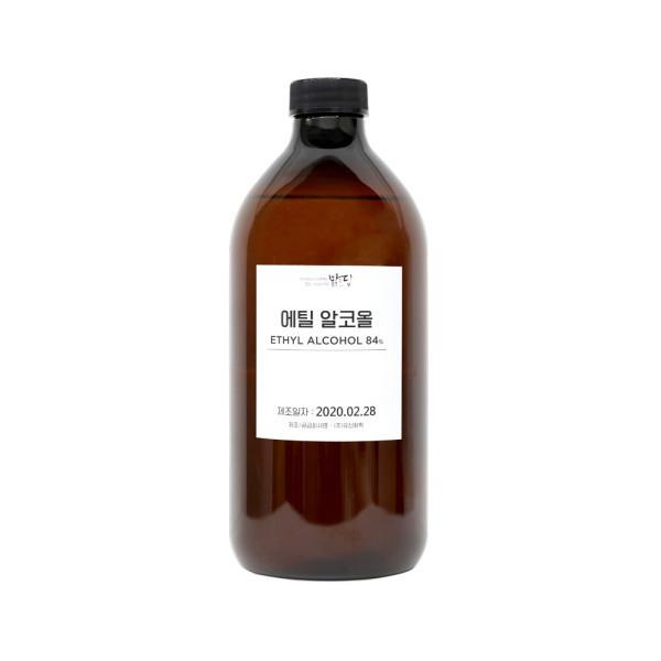 맑을담  소독용 식물성 에탄올 에틸알코올84% 1L 상품이미지
