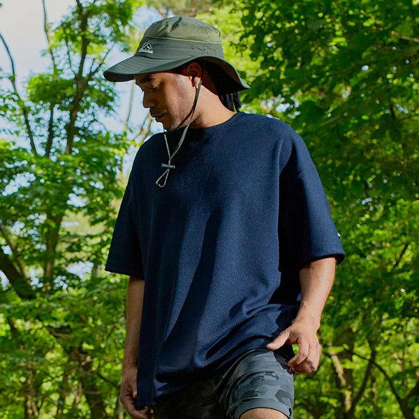 와플 반팔티 여름 남자 무지 티셔츠 남성 쿨론GT3149 상품이미지